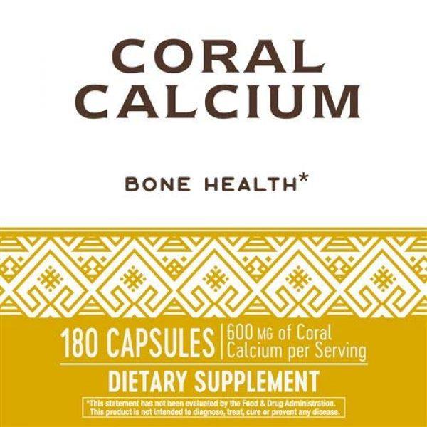 Nature's Way Calcium Supplement 5 Nature's Way Coral Calcium 600 mg, 180 Count
