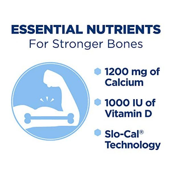CITRACAL Calcium Supplement 5 Citracal Slow Release 1200, 1200 mg Calcium Citrate and Calcium Carbonate Blend with 1000 IU Vitamin D3, Bone Health Supplement for Adults, Once Daily Caplets, 185 Count