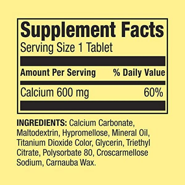 Spring Valley Calcium Supplement 3 Spring Valley - Calcium 600 mg (Pack of 2) 200 Total Coated Tablets