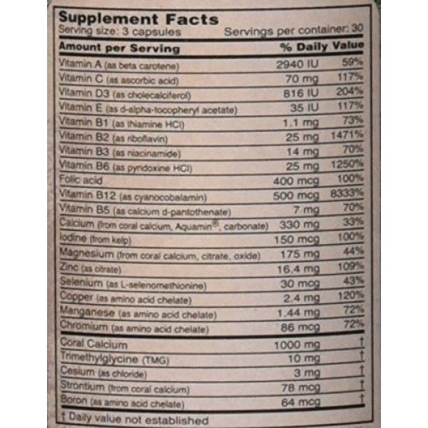 Robert Barefoot Calcium Supplement 4 Coral Calcium Supreme 1000mg Formulated & Endorsed by Bob Barefoot 90 caps NEW Improved Formula