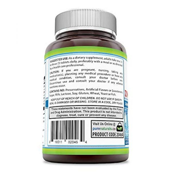Pure Naturals Calcium Supplement 3 Pure Naturals Calcium Magnesium Zinc with Vitamin D3, 300 Tablets, Supports Nerve & Muscle Functions* Supports Strong Bones & Teeth*