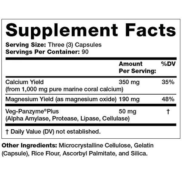 Olympian Labs Calcium Supplement 3 Olympian Labs Coral Calcium, 1g Per Serving, 1000 mg, 270 Capsules