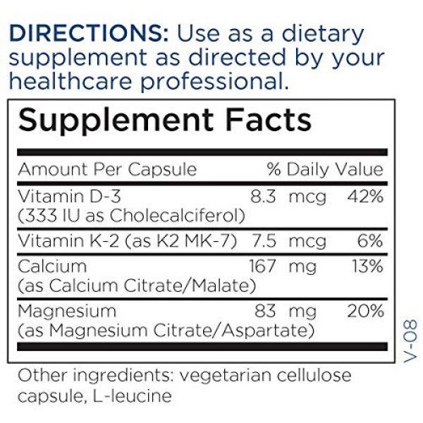 Metabolic Maintenance Calcium Supplement 5 Metabolic Maintenance Cal Mag Plus with Vitamin D-3 + Vitamin K2 M7 - Bioavailable Calcium Citrate Malate Supplement with Magnesium, Zinc, Vitamins D + K - Bone + Heart Support (180 Capsules)