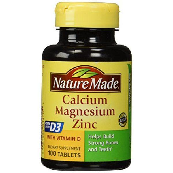 Nature Made Calcium Supplement 1 Nature Made Calcium Magnesium & Zinc Tabs, 100 ct