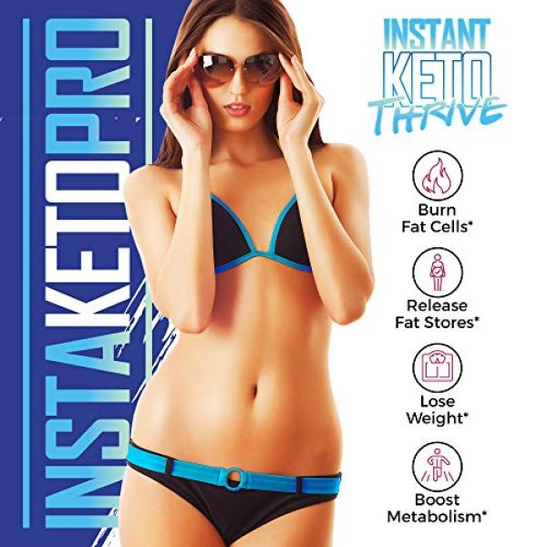 Instant Keto Thrive Calcium Supplement 6 InstaKeto Pro - Burn More Fat Faster Than Ever with Bhb Supported Ketosis - Lose Weight -Pure Bhb Exogenous Ketones Designed to Jump Start The Keto Diet - by Instant Keto Thrive