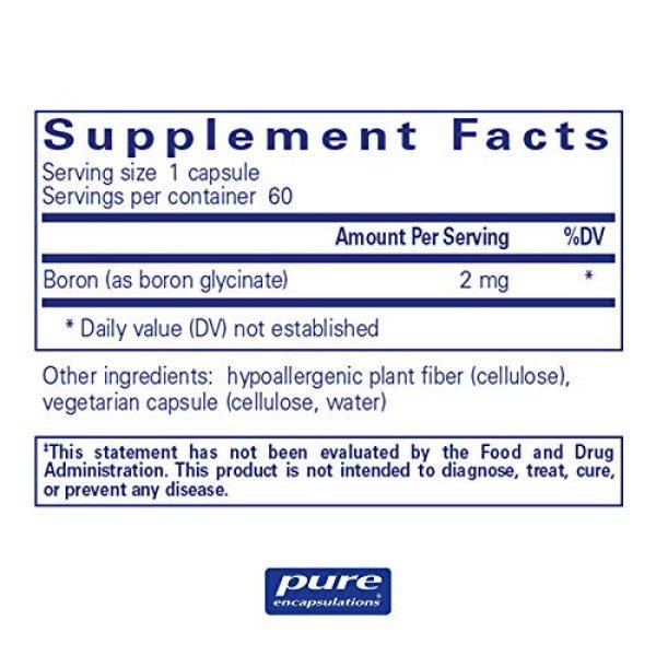 Pure Encapsulations Calcium Supplement 2 Pure Encapsulations Boron (Glycinate) | Supplement for Hormone Balance, Bone Strength and Health, Connective Tissue, and Nutrient Metabolism* | 60 Capsules
