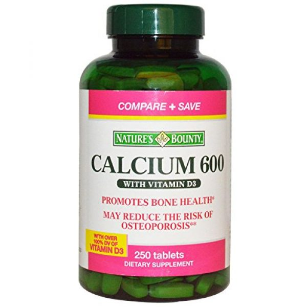 Nature's Bounty Calcium Supplement 1 Nature's Bounty Calcium 600 with Vitamin D3-250 Tablets