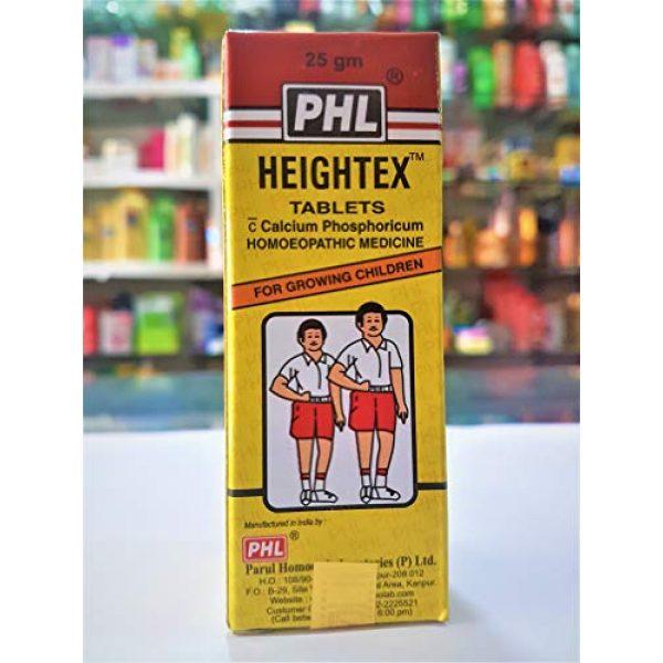 Generic Calcium Supplement 3 Heightex 25gm Tablets Calcium Phosphoricum Homeopathic Medicine for Growing Children PHL