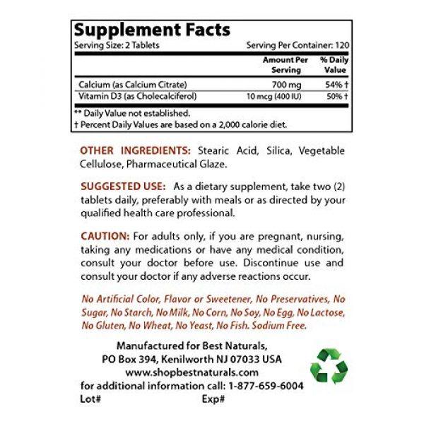 Best Naturals Calcium Supplement 2 Best Naturals Calcium Citrate with Vitamin D-3 240 Tablets