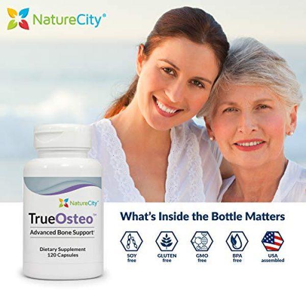 NatureCity Calcium Supplement 2 True-Osteo Plant Calcium Bone Support Supplement w AlgaeCal Vitamin K2 Magnesium (3)