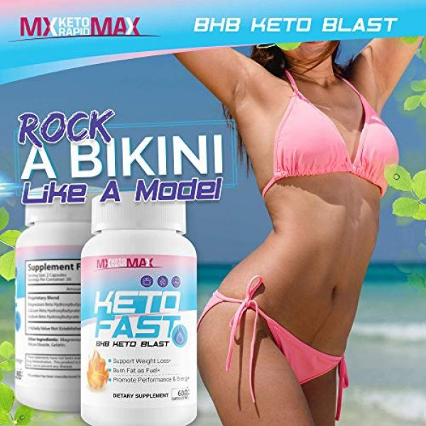 MX Keto Rapid Max Calcium Supplement 5 Keto Fast - BHB Keto Blast - Burn Fat Fast with Accelerated Ketosis Entry - by MX Keto Rapid Max - Feel The MX Keto Blast Effect of Calcium BHB Salts for max Rapid Keto Fat Burning and Weight Loss