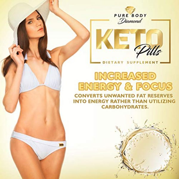 Pure Body Diamond Calcium Supplement 6 Pure Body Diamond Keto Pills - Keto Boost - Accelerate Ketosis - Burn More Fat - Burn Fat Faster - Keto Pills for Women, Keto Pills for Men - Feel The Keto Power of Bhb exogenous Ketones Capsules