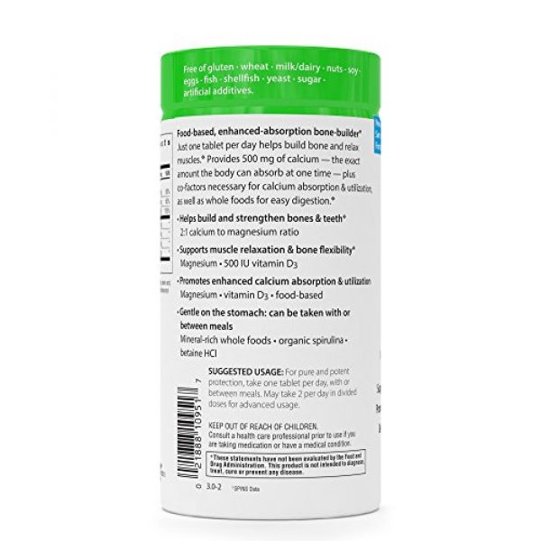 Rainbow Light Calcium Supplement 6 Rainbow Light - Food-Based Calcium - Calcium, Magnesium, and Vitamin D Multivitamin Supplement; Supports Bone Density, Muscle Relaxation, and Calcium Absorption; 500 IU Vitamin D3 - 90 Tablets