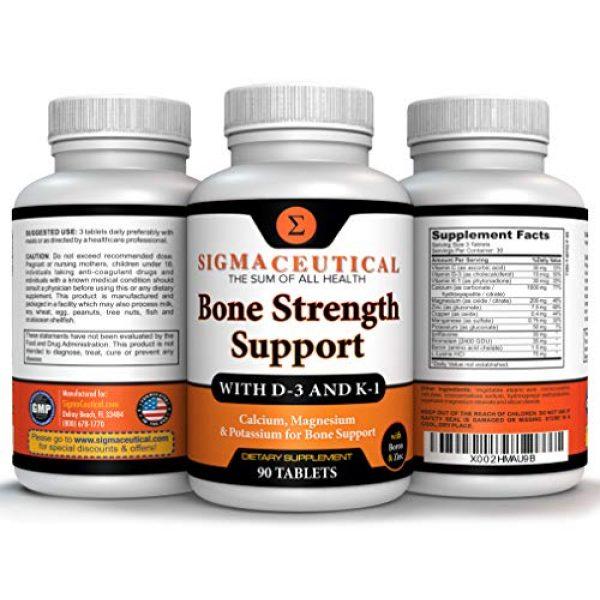 Sigmaceutical Calcium Supplement 4 Bone Strength Calcium Magnesium Supplement - Bone Health Boron Supplement - Calcium Citrate w/ Vitamin D3 - Calcium Carbonate - 90 Tablets