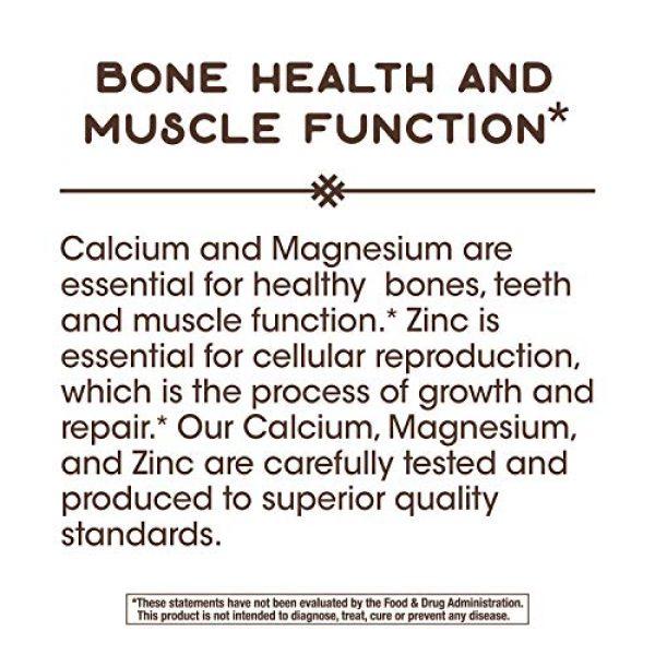Nature's Way Calcium Supplement 5 Nature's Way Calcium, Magnesium & Zinc, 765 mg per Serving, 250 Capsules