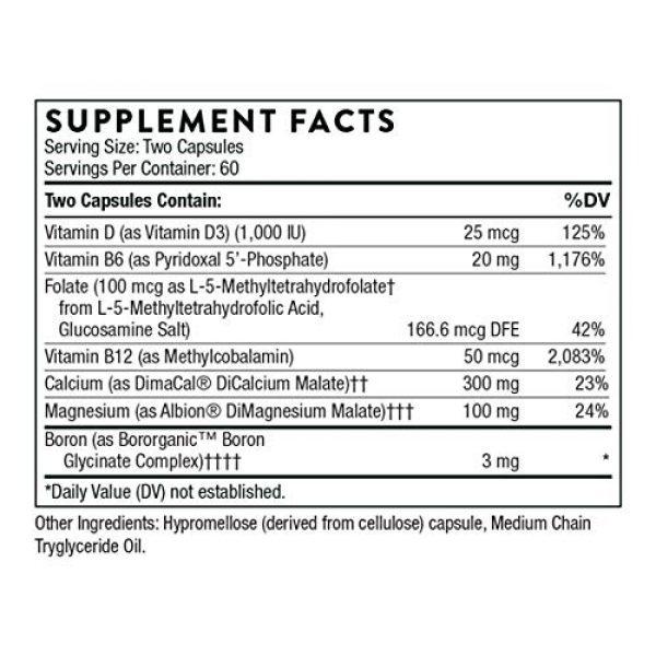 Thorne Research Calcium Supplement 2 Thorne Research - Oscap - Bone Health Supplement with Calcium and Vitamin D - 120 Capsules