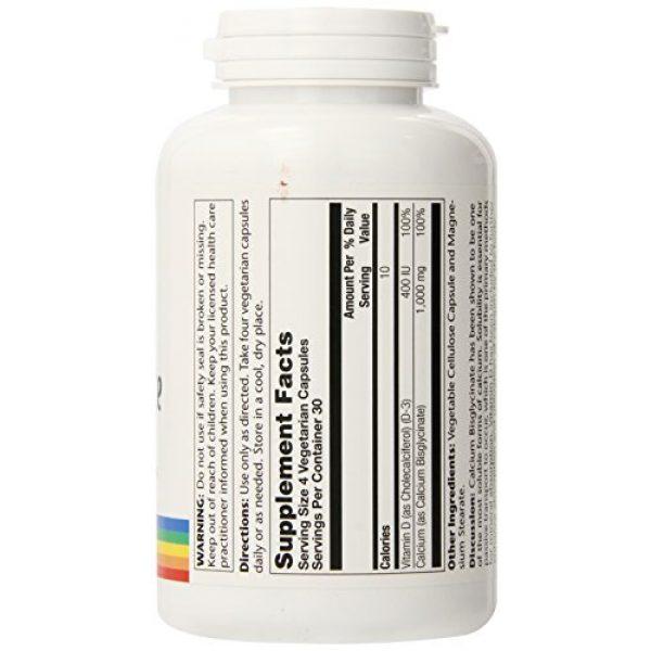 Solaray Calcium Supplement 2 Solaray Calcium w/ D3 Bisglycinate, Veg Cap (Btl-Plastic) 1000mg   120ct