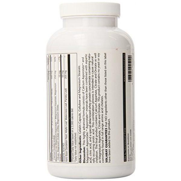 Solaray Calcium Supplement 3 Solaray Calcium and Magnesium Asporotate Capsules   240 Count