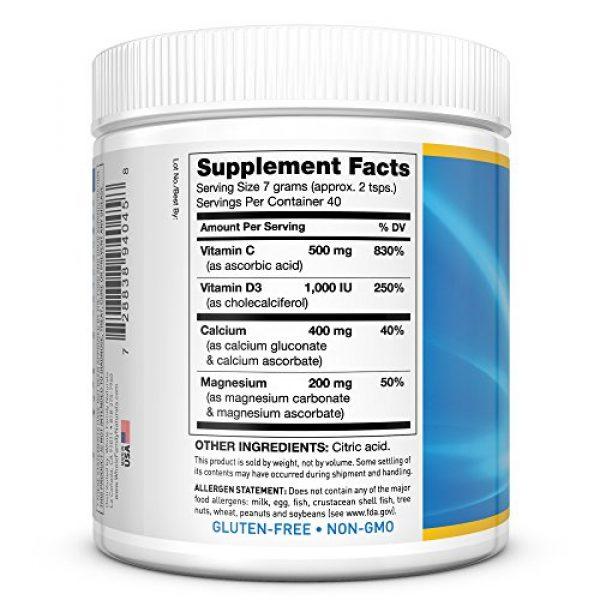 Whole Family Naturals Calcium Supplement 5 Calcium Magnesium Powder Supplement - CalMag Plus with Vitamin C & D3 - Gluten Free, Non GMO, Unflavored - Natural Calm & Stress Relief Cal Mag Drink - Cal-Mag for Leg Cramps