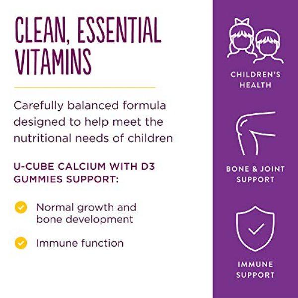 Solgar Calcium Supplement 4 Solgar U-Cubes Children's Calcium with Vitamin D3, 120 Gummies - 3 Flavors, Pink Lemonade, Blueberry & Strawberry - Supports Bone & Teeth Health - Non GMO Gluten Free, Dairy Free - 60 Servings