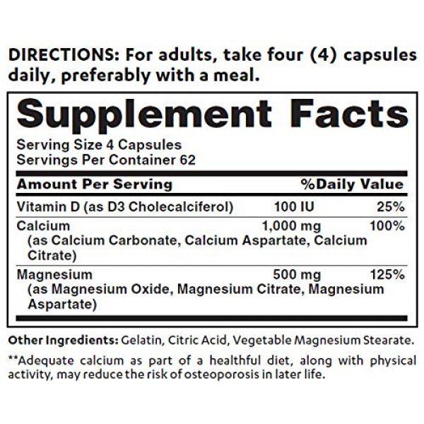 Vitamin World Calcium Supplement 2 Vitamin World Calcium Magnesium Plus Vitamin D3 250 Capsules, Promotes Bone Health, Mineral Supplement, Rapid-Release, Gluten Free