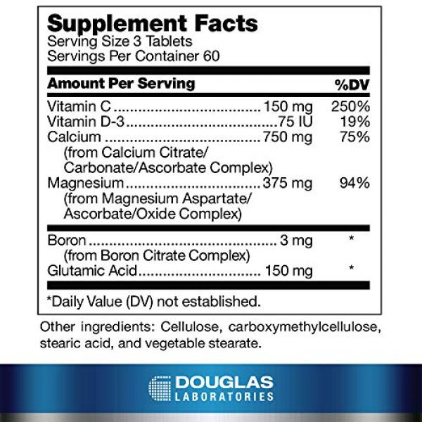 Douglas Labs Calcium Supplement 2 Douglas Laboratories - Cal/Mag 2001 (Calcium Two to One) - with Magnesium and Other Nutrients to Support Healthy Bone Structure - 180 Tablets