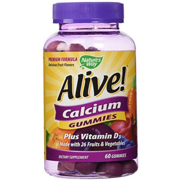 Nature's Way Calcium Supplement 1 Nature's Way Alive Calcium, 60 Gummies
