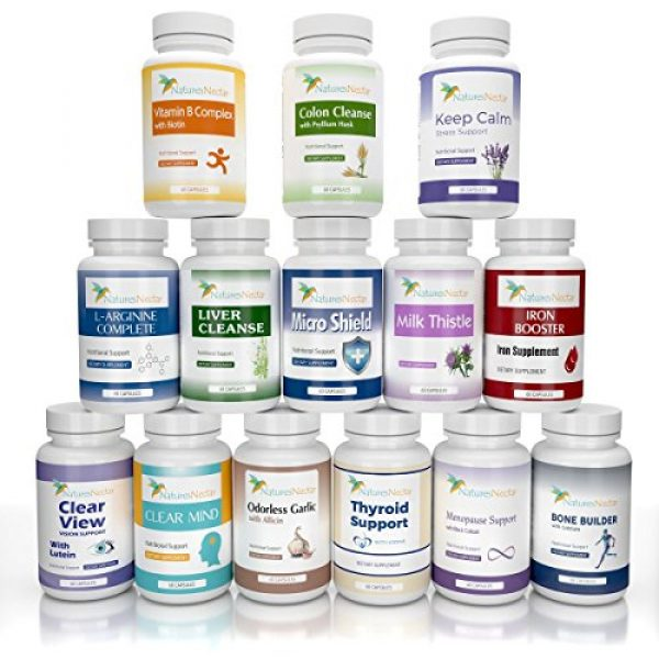 Nature's Nectar Calcium Supplement 7 Bone Builder Joint Supplements for Women - Increased Bone Health Plus New Growth - Fights Osteoporosis - Bone Strength Formula - Organic Bone Care for Max Raw Absorption Boost - Feel New Life & Alive