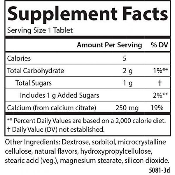 Carlson Calcium Supplement 2 Carlson - Chewable Calcium Citrate, 250 mg, Highly Absorbable, Bone Support, Healthy Teeth & Optimal Wellness, Natural Vanilla Flavor, 120 Tablets