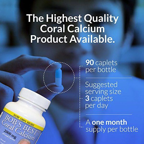 Bob's Best Calcium Supplement 3 Bob's Best Coral Calcium 2000mg, 3 Pack of 90 Capsules New Improved Formulation!