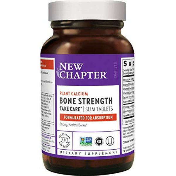 New Chapter Calcium Supplement 1 New Chapter Calcium Supplement - Bone Strength Whole Food Calcium with Vitamin K2 + D3 + Magnesium, Vegetarian, Gluten Free 270 Count (3 Month Supply)