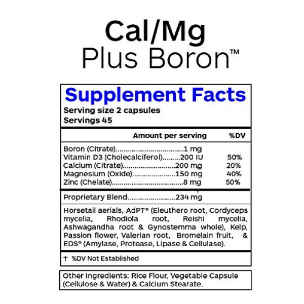 Professional Botanicals Calcium Supplement 3 Professional Botanicals Cal/Mg + Boron - Vegan Formulated to Support Bone Health and Healthy Skin, Teeth and Nails Calcium Magnesium and Boron 90 Vegetarian Capsules