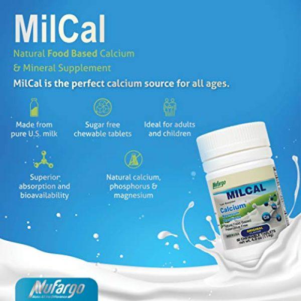 NUFARGO Calcium Supplement 4 MilCal Calcium + Magnesium Supplement   Sugar-Free Chewables for Women, Men, and Kids   60 Tablets by NuFargo Global Inc.