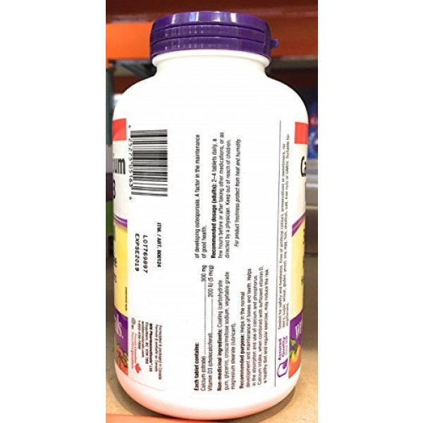 Webber Naturals Calcium Supplement 2 Webber Naturals Calcium Citrate Vitamin D3, 300mg / 200IU High Absorption, 350 Tablets
