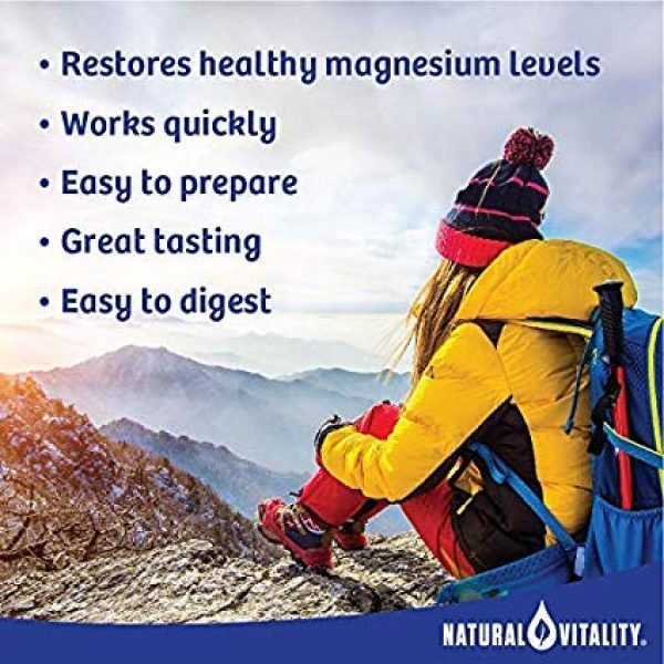 Natural Vitality Calcium Supplement 3 Natural Vitality Natural Magnesium Calm Plus Calcium, (2 Bottles of 16 Ounce)