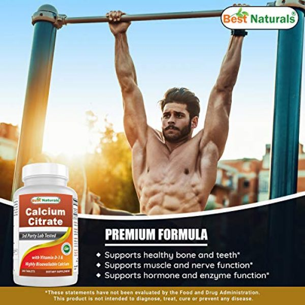 Best Naturals Calcium Supplement 4 Best Naturals Calcium Citrate with Vitamin D-3 240 Tablets