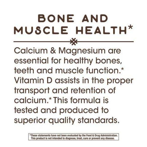 Nature's Way Calcium Supplement 6 Nature's Way Calcium, Magnesium & Vitamin D, 250 Capsules, Pack of 2