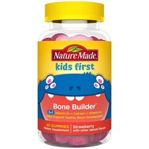 Nature Made Calcium Supplement 1 Nature Made Kids First Bone Builder with Vitamin D, Calcium, and Vitamin K2 40 Count