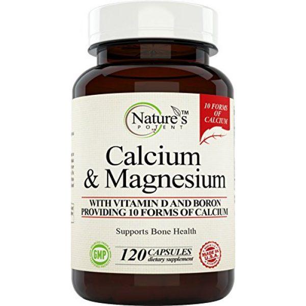 Nature's Potent Calcium Supplement 1 Calcium Magnesium Supplement with Vitamin D, Boron - Providing 10 Forms of Calcium, 120 (Capsules)