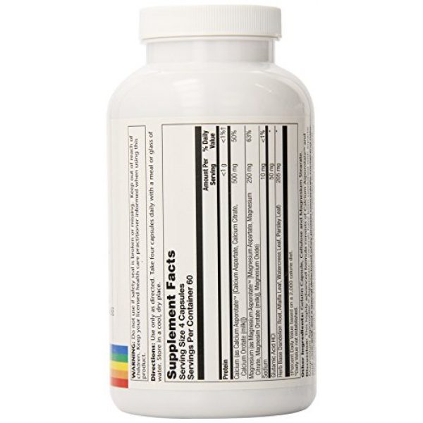 Solaray Calcium Supplement 2 Solaray Calcium and Magnesium Asporotate Capsules   240 Count