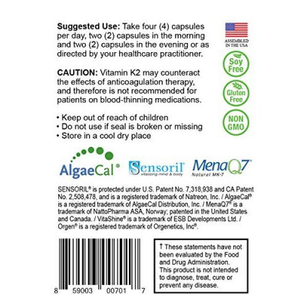NatureCity Calcium Supplement 4 True-Osteo Plant Calcium Bone Support Supplement w AlgaeCal Vitamin K2 Magnesium (3)