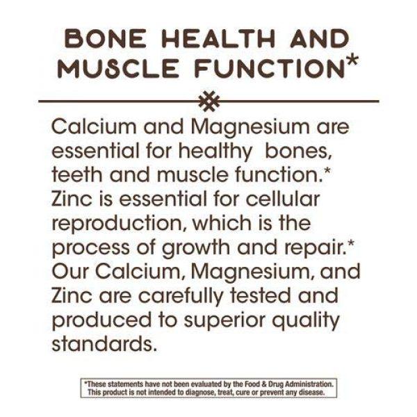 Nature's Way Calcium Supplement 6 Nature's Way Calcium, Magnesium & Zinc, 765 mg per serving, 100 Capsules