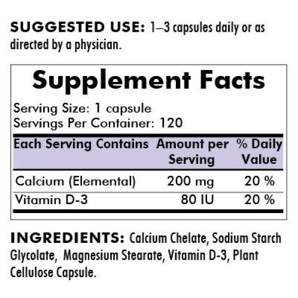 Kirkman Calcium Supplement 2 Kirkman's purest Calcium 200 mg - Bio-Max Series - Hypoallergenic 120 Vegetarian Capsules | Gluten and Casein Free | Tested for More Than 950 Environmental contaminants