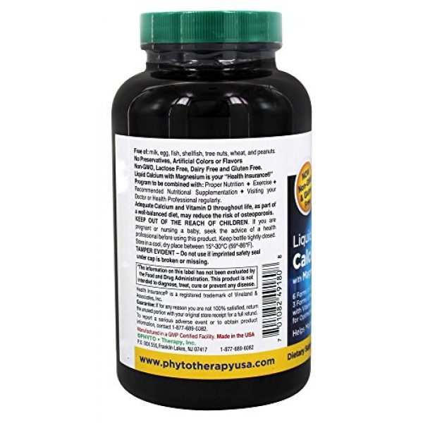 Phyto-Therapy Calcium Supplement 4 Phytotherapy Rx Calcium Liquid Softgel - 180 per Pack - 1 Each.