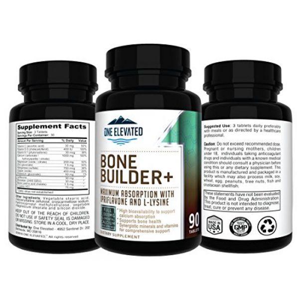 One Elevated Calcium Supplement 3 Comprehensive Bone Builder Calcium Supplement. Formulated with Highest Grade Calcium -Carbonate/Hydroxyapatite/Citrate, Magnesium, Zinc, D3. Works in Sync for Optimum Bone Health and Bone Strength.