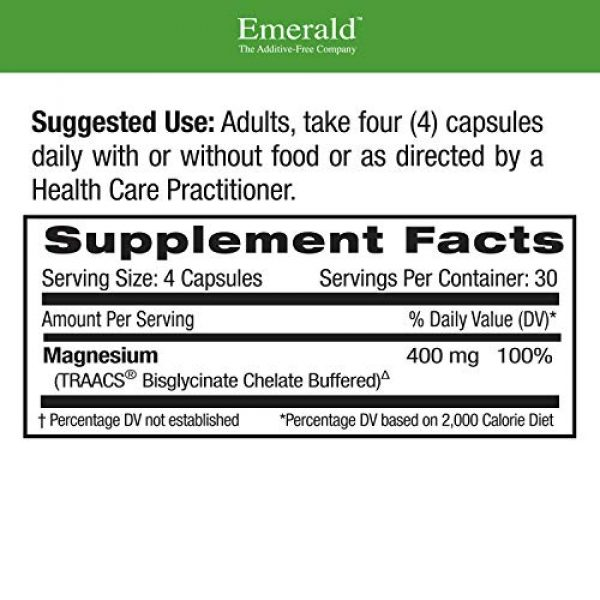 Emerald Labs Calcium Supplement 2 Emerald Labs Magnesium 400mg (Pure Albion) Gold Standard Bioavailability - 120 Vegetable Capsules
