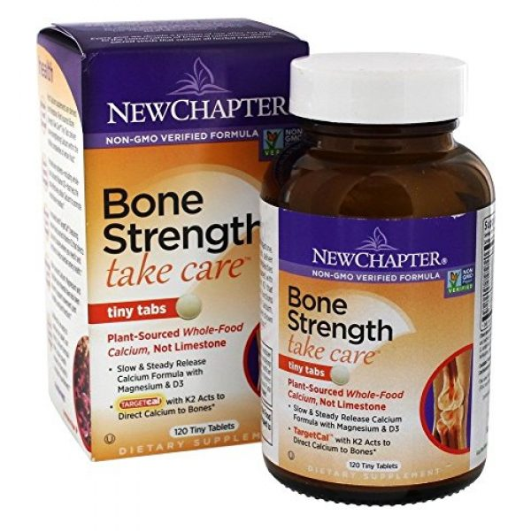 New Chapter Calcium Supplement 1 New Chapter, Bone Strength Take Care Tiny, 120 Tablets