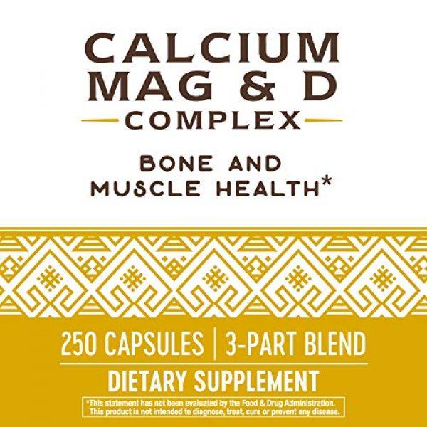 Nature's Way Calcium Supplement 5 Nature's Way Calcium, Magnesium and Vitamin D, 250 Capsules
