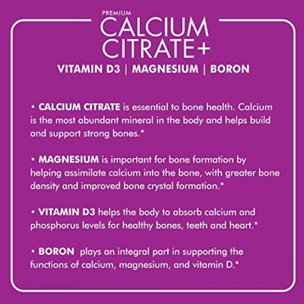 Glamour Nutrition Calcium Supplement 3 Glamour Nutrition Calcium Citrate + Magnesium, Vitamin D3, Boron | Maximum Calcium Absorption for Bone Health | 150 Veggie Capsules