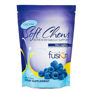 Bariatric Fusion Calcium Supplement 1 Bariatric Fusion Calcium Citrate 500mg & Energy Soft Chews Blue Raspberry Flavor for Bariatric Surgery Patients Including Gastric Bypass and Sleeve Gastrectomy, 60 Count, Sugar Free, Made in The USA